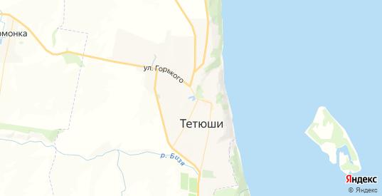Карта Тетюшей с улицами и домами подробная. Показать со спутника номера домов онлайн