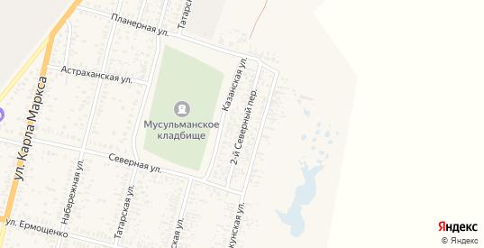 Северный переулок в Пугачеве с номерами домов на карте. Спутник и схема онлайн