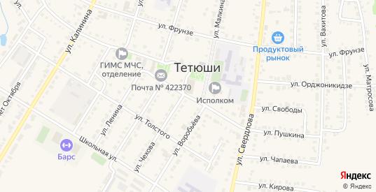 Улица Свободы в Тетюшах с номерами домов на карте. Спутник и схема онлайн