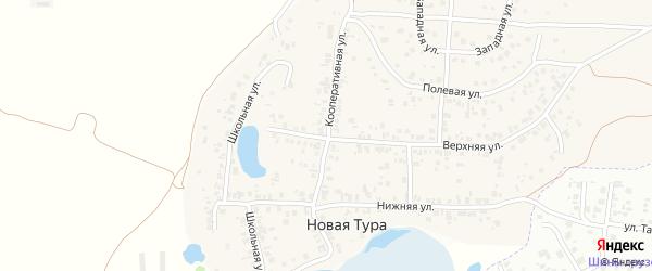 Кооперативная улица на карте села Новой Туры Татарстана с номерами домов