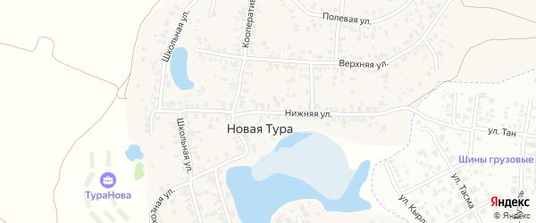 Нижняя улица на карте села Новой Туры Татарстана с номерами домов