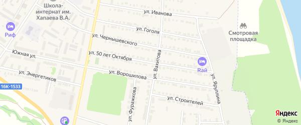 Улица 50 лет Октября на карте Тетюшей с номерами домов