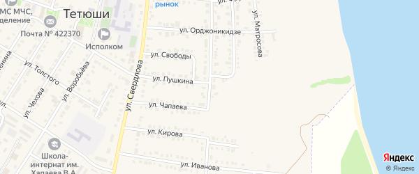 Улица Вахитова на карте Тетюшей с номерами домов