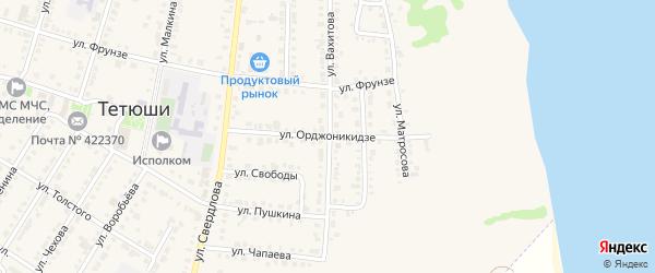 Улица Орджоникидзе на карте Тетюшей с номерами домов