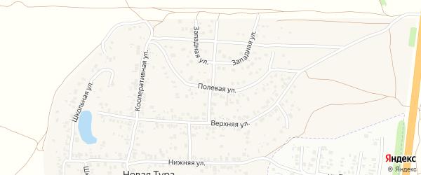 Восточная улица на карте села Новой Туры Татарстана с номерами домов