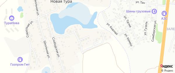 Озерная улица на карте села Новой Туры Татарстана с номерами домов