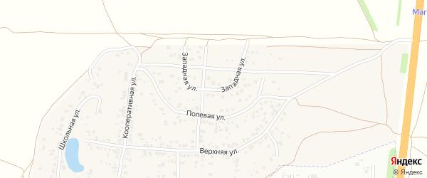 Западная улица на карте села Новой Туры Татарстана с номерами домов