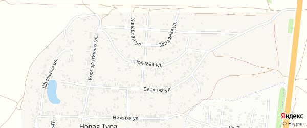 Полевая улица на карте села Новой Туры Татарстана с номерами домов