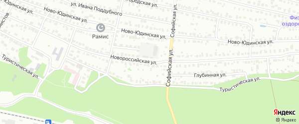 Новороссийская улица на карте Казани с номерами домов
