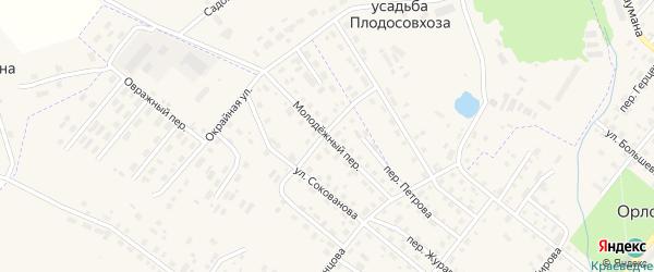 Молодежный переулок на карте Орлова с номерами домов