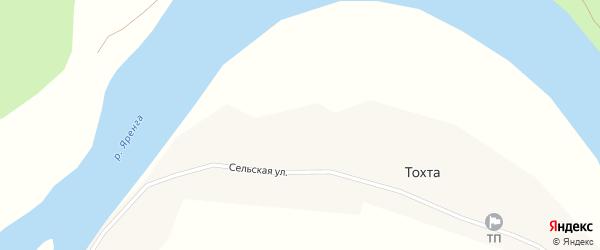 Сельская улица на карте села Тохты с номерами домов