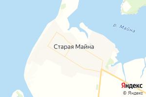 Карта пгт Старая Майна Ульяновская область