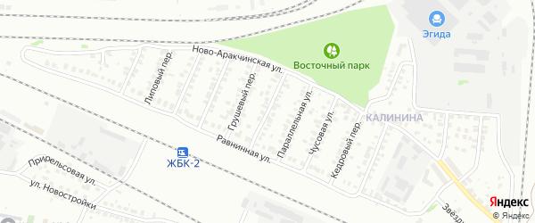 Поперечно-Равнинная улица на карте Казани с номерами домов