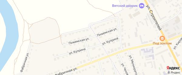 Пижемская улица на карте Советска с номерами домов