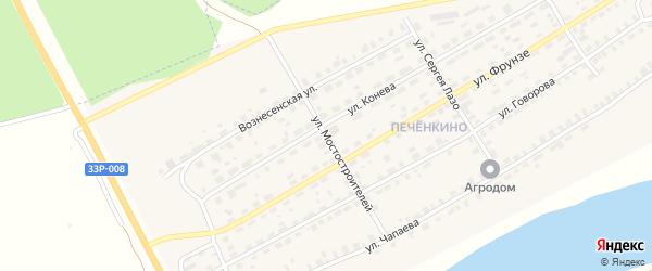 Улица Мостостроителей на карте Советска с номерами домов