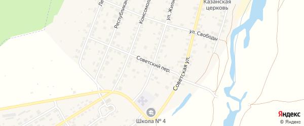 Советский переулок на карте Советска с номерами домов