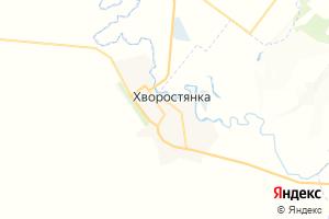 Карта с. Хворостянка