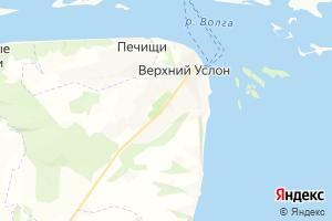 Карта с. Верхний Услон Республика Татарстан