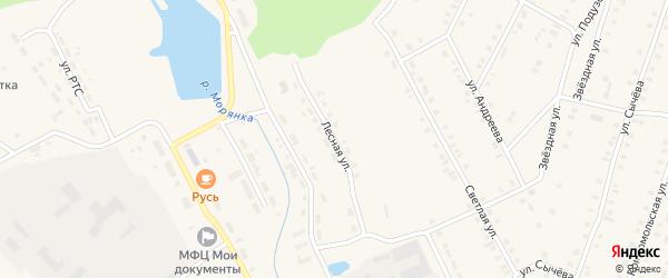 Лесная улица на карте поселка Морки Марий Эл с номерами домов