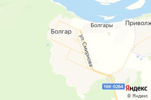 Карта г. Болгар