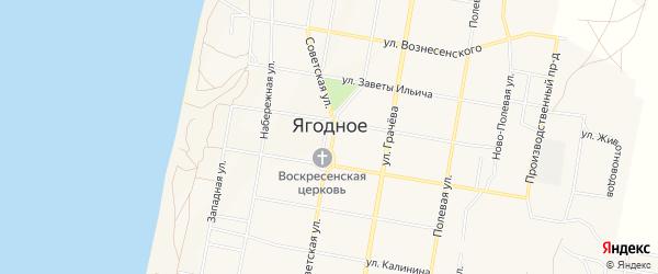 Карта Ягодного села в Самарской области с улицами и номерами домов