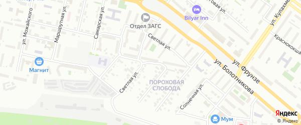 Улица Светлая (Аки) на карте Казани с номерами домов