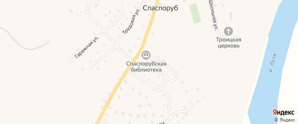 Совхозная улица на карте села Спаспоруб Коми с номерами домов