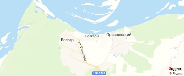 Карта Болгара с районами, улицами и номерами домов