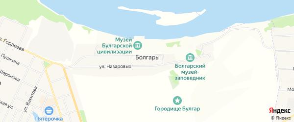 Карта села Болгары в Татарстане с улицами и номерами домов