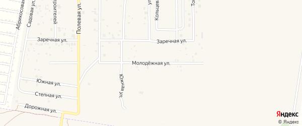 Молодежная улица на карте Приволжского микрорайона Самарской области с номерами домов