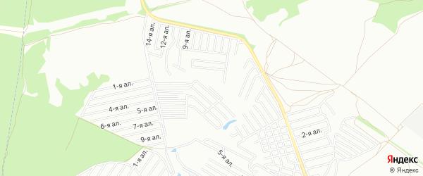 Территория Коллективный сад N2 СНТ ОАО КМПО на карте Казани с номерами домов