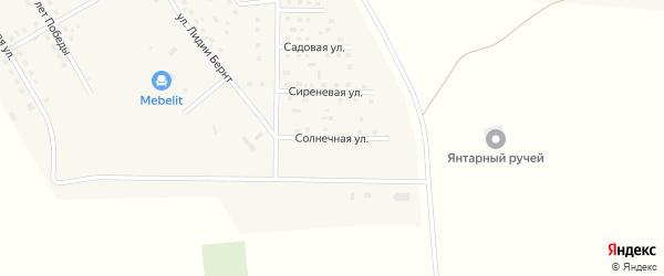 Солнечная улица на карте села Богдашкино Ульяновской области с номерами домов