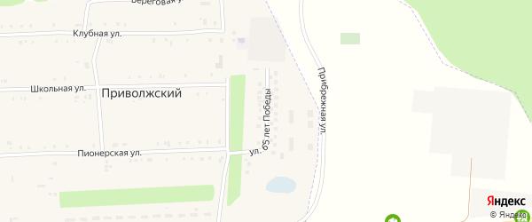 Улица 65 лет Победы на карте Приволжского поселка Татарстана с номерами домов