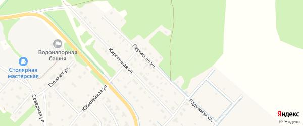 Пермская улица на карте села Яренска с номерами домов