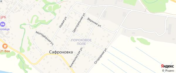 Кижмольская улица на карте деревни Сафроновки Архангельской области с номерами домов
