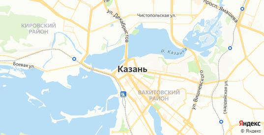 Карта Казани с улицами и домами подробная. Показать со спутника номера домов онлайн