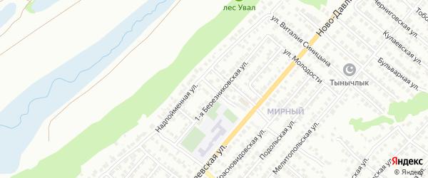 Поперечно-Резвая улица на карте Казани с номерами домов