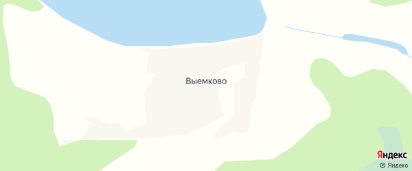 Карта деревни Выемково в Архангельской области с улицами и номерами домов