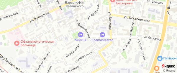 Улица Айвазовского на карте Казани с номерами домов