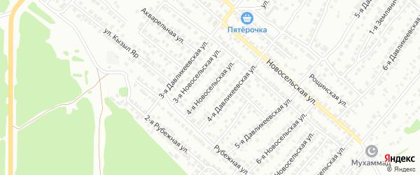 4-я Новосельская улица на карте Казани с номерами домов