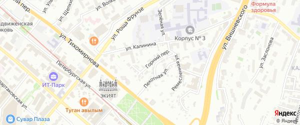 Горный переулок на карте Казани с номерами домов