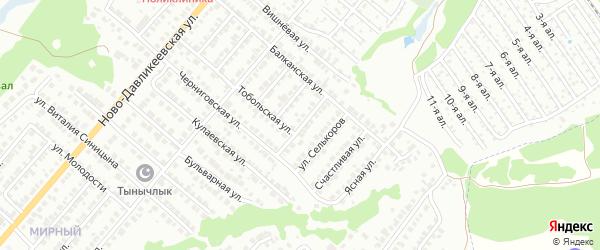 Календарная улица на карте Казани с номерами домов