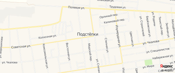 Фермерское хозяйство Аврора на карте села Подстепки Самарской области с номерами домов