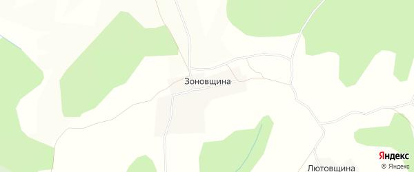 Карта деревни Зоновщины в Кировской области с улицами и номерами домов