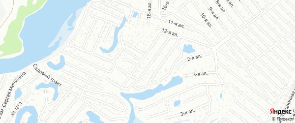 Территория Сады Подлужный на карте Казани с номерами домов