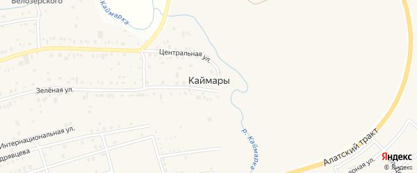Улица Семина на карте села Каймары Татарстана с номерами домов
