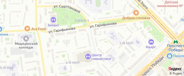 Улица Сыртлановой на карте Казани с номерами домов