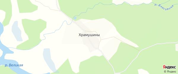 Карта деревни Храмушины в Кировской области с улицами и номерами домов