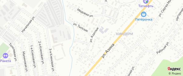 Улица Азатлык на карте Казани с номерами домов