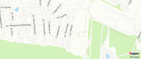 Улица Липки на карте Казани с номерами домов